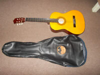 guitar brand new, with leather case