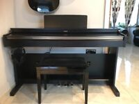 Yamaha YDP162 Digital Piano with stool and headphones