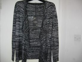 Ladies high heeled shoes, waterfall cardigan and jackets