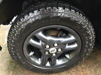 Land Rover Range Rover p38 discovery 2 TD5 etc alloy wheels and Pirelli scorpion A/T tyres 255 60 18