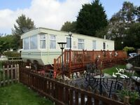 static caravan for sale in cheshire on a quiet camp close to amenities.