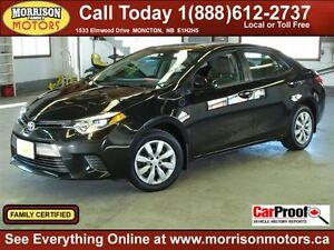 2015 Toyota Corolla LE, Back up Cam, Heated seats!