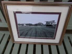 Vintage framed photo of York racecourse
