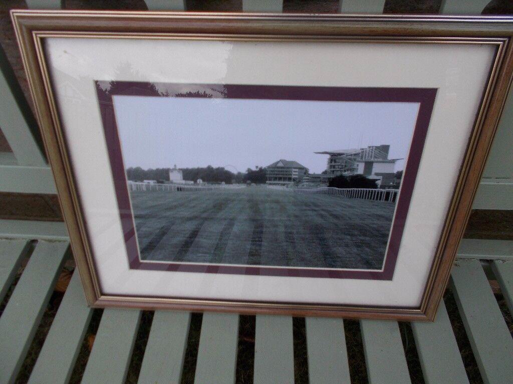 Vintage framed photo of York racecourse