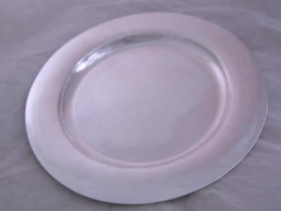 "Sterling KALO 11"" Service Plate ARTS & CRAFTS Hand Wrought CHICAGO 19.00 troy oz"