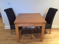 Devonshire New Oak Range Table and 2 Chairs