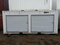 Sea Container storage unit with roll up doors