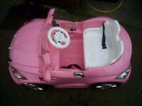 6v pink battery powered ride on car