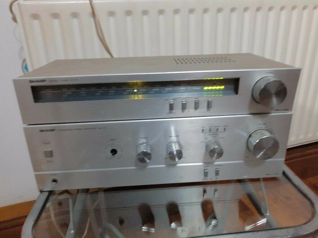 Vintage SHARP Tuner ST-21 plus Ampliefier SM-21