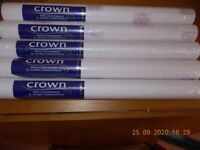 Crown wallpaper - 5 rolls - very pale lilac background with small design
