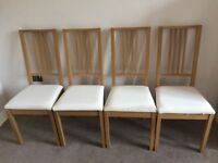 IKEA Borje Chairs x4 - Oak in Colour, Excellent Condition, Table NOT Included but Available