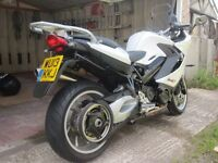 BMW F800GT tourer, 2013, white, covered only 6300 mls, good spec and very nice bike.