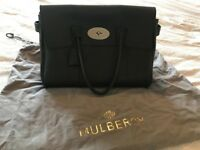 Mulberry Bayswater Handbag - Black and Sliver