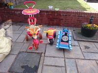 All three items for £15. A trike , small bike and a Thomas rocker. Used but in good condition.
