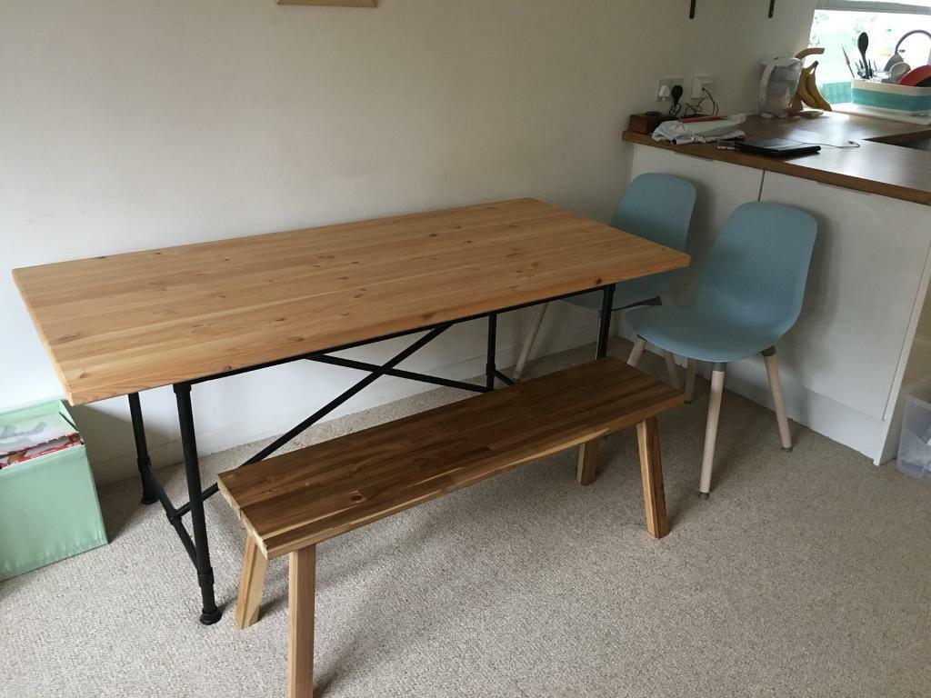 Dining Table Bench Two Chairs In Dalston London Gumtree