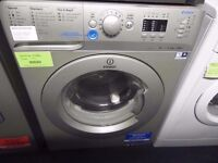 EX-DISPLAY SILVER INDESIT 8 KG 1400 SPIN WASHING MACHINE REF: 13328