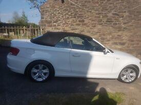 BMW 120d white convertible