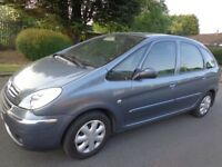 56 reg clean citroen xsara picasso 1.6 hdi diesel with service history moted + tax and FREE DELIVERY
