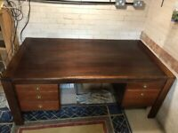 Large Executive Desk - Solid Rosewood