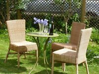 Ikea dining or garden chairs, wicker, high back style