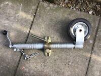 Trailer jockey wheel heavy duty 48mm with mounting bracket