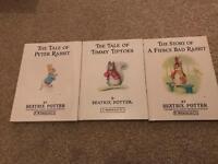 Beatrix Potter: Peter Rabbit and friends 3 books. Excellent condition!