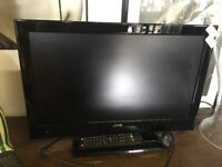 """21"""" Colour Tv with Built in DVD Player in Full Working Order and Remote Control"""
