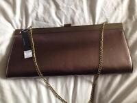 Brand New with Tags Metallic Bronze Oversize Clutch