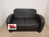 2 seater leather sofa (free delivery)