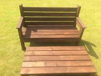Garden bench and matching table