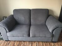 Ikea 2 seater sofa - As New - Hensta grey fabric