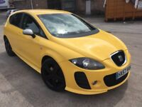 Seat leon fr diesel car 57 reg 2.0 tdi 6 speed btc body kit twin pipe yellow mot ac drives excellent
