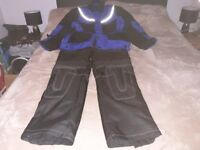 Scotch Lite motor bike Armour Jacket large and Armour trousers size 32