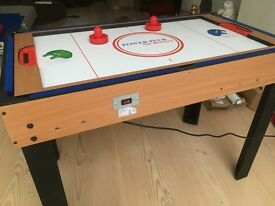 Air hockey table - also doubles up as snooker and other games table