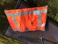 Hi Viz Offshore Jacket size large - brand new in wrapper
