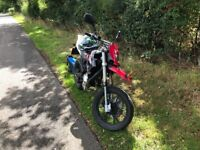 Generic sm 50cc competition super moto, fitted with new 70cc top end and a genuine Yamaha engine