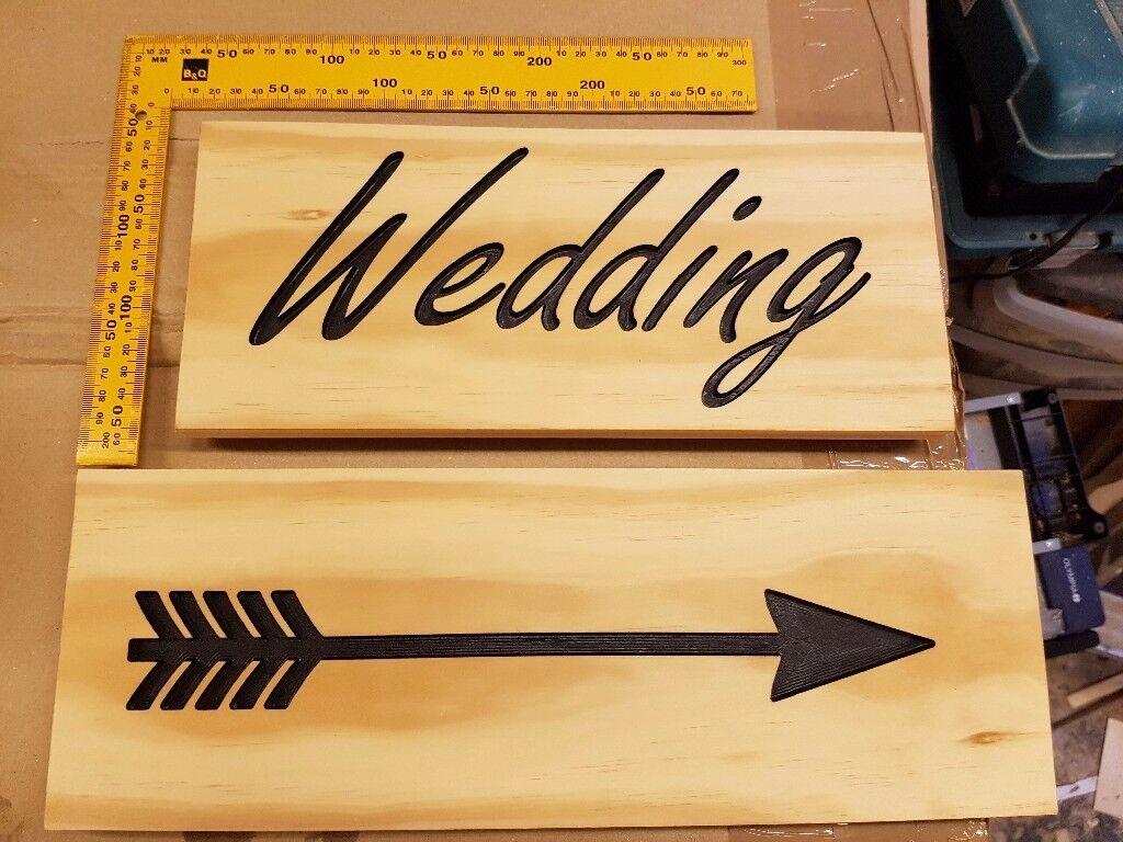 Wedding Sign, pine, black lettering