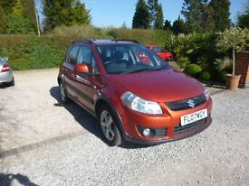 2007 SUZUKI SX4 GLX 1.6 BURNT ORANGE 12 MONTH M.O.T.