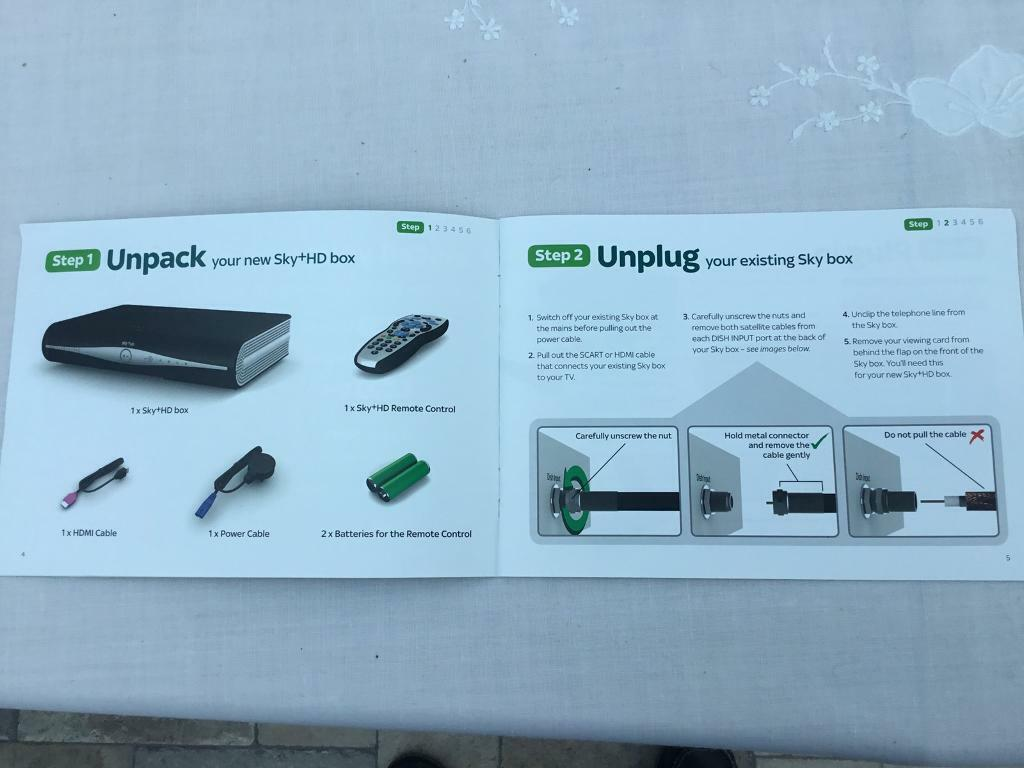 Sky+ HD box, remote, cables & install guide (remote needs 2xAA batteries)   | in Winchester, Hampshire | Gumtree