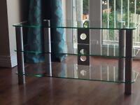 42 inch 3 tier glass TV stand / shelf / unit