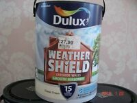 NEW DULUX Weather Shield Exterior Walls Smooth Masonary Colour Classic Cream 5L x 6 Tubs NEW