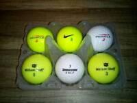 6 X MIXED GOLF BALLS(BRAND NEW)