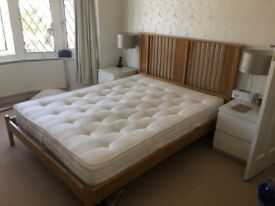 5ft Kingsize Wooden bed (Can Include Mattress For Free)