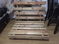 Mito Single Futon Natural Wood