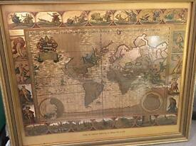 Moses Pitt 1681 - world map engraving