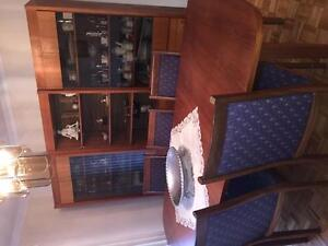 Teak table with buffet
