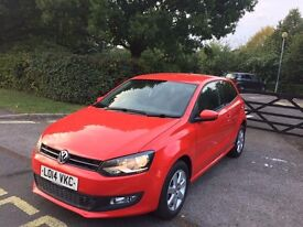 2014 VOLKSWAGEN POLO RED 11,000 MILES CAT D EXCELLENT CONDITION INSIDE AND OUT