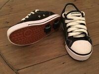 Boys size 12 converse style black & white heelys