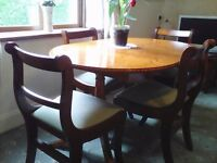 Dining room table & 4 chairs extendable
