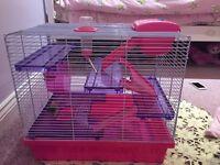 Hamster cage. Free. Please read The description